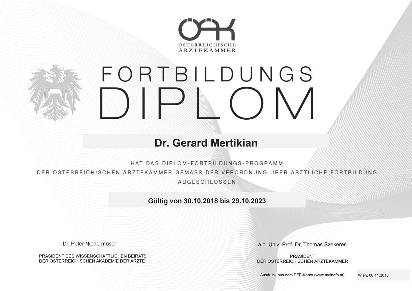 Dr. Gerard Mertikian | DFP-Diplom